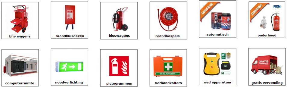 shop brandblussers, brandveiligheid artikelen